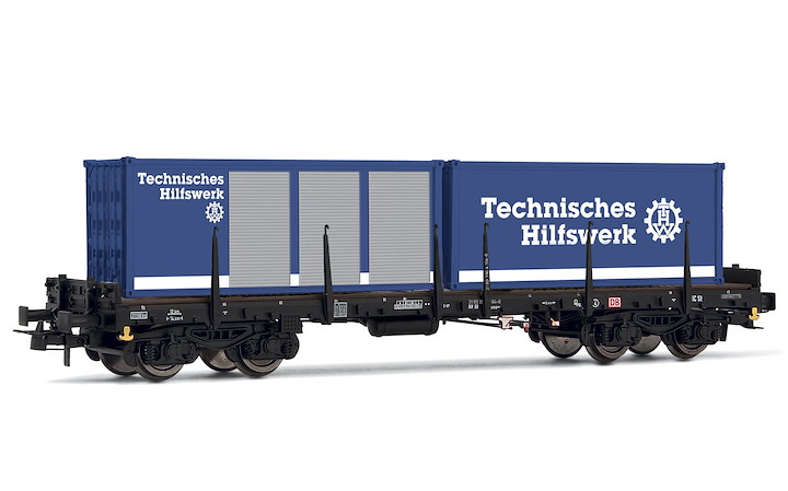 DB 4-achsiger Flachwagen + THV Cont. Ep. IV