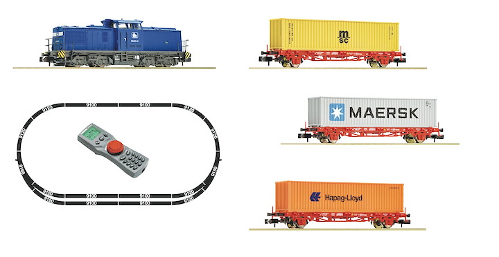 Digitales Startset: BR 204 mit Containerzug, PRESS, Privatbahn