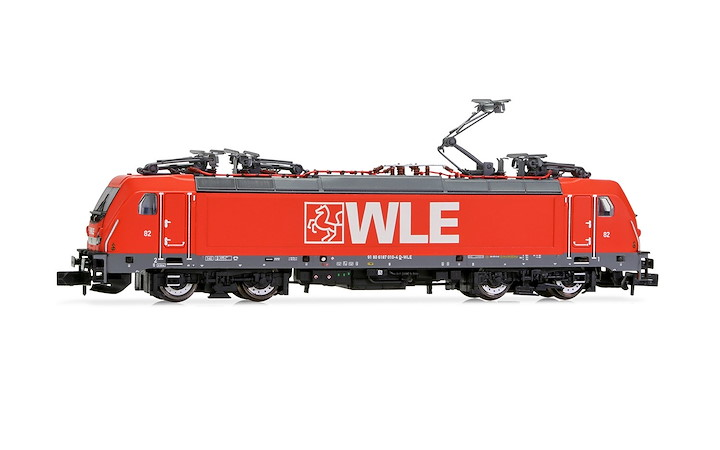 WLE, BR 187, red, with DCC decoder