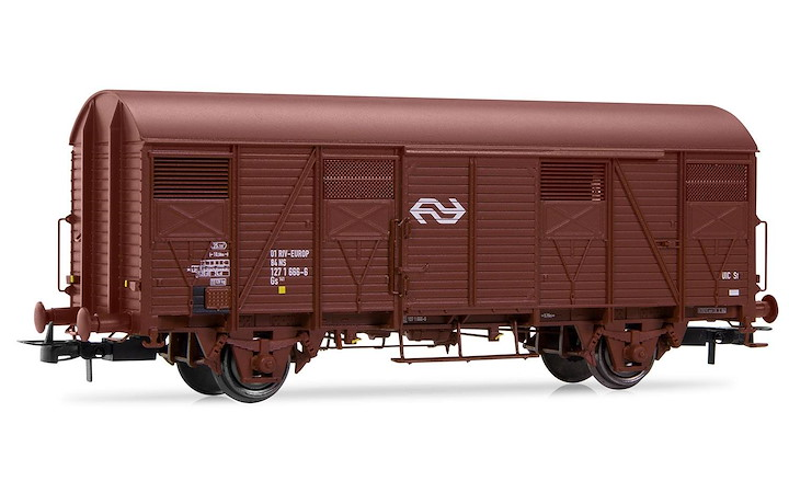 NS, 2-axle Gs wagon, brown with NS logo