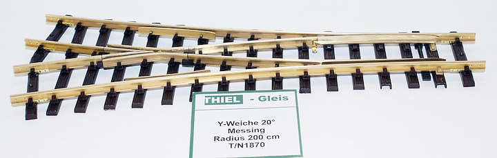 Y-Weiche Messing 20° R.2000mm