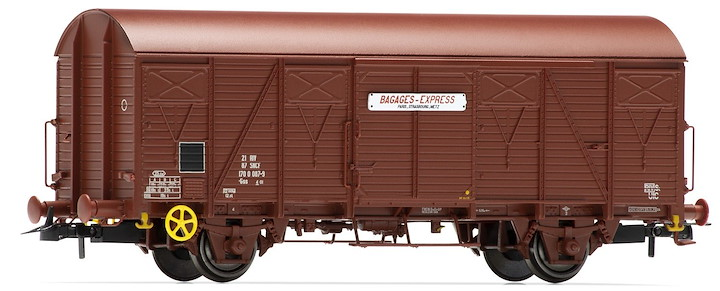 SNCF, 2-unit set Kv Bagage Express, wooden, ep III