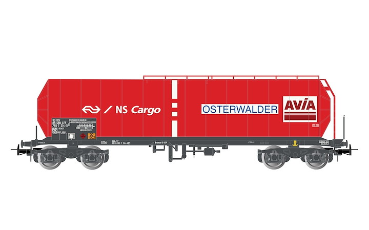 NS Cargo, 4-axle tank wagon, red, epoch V