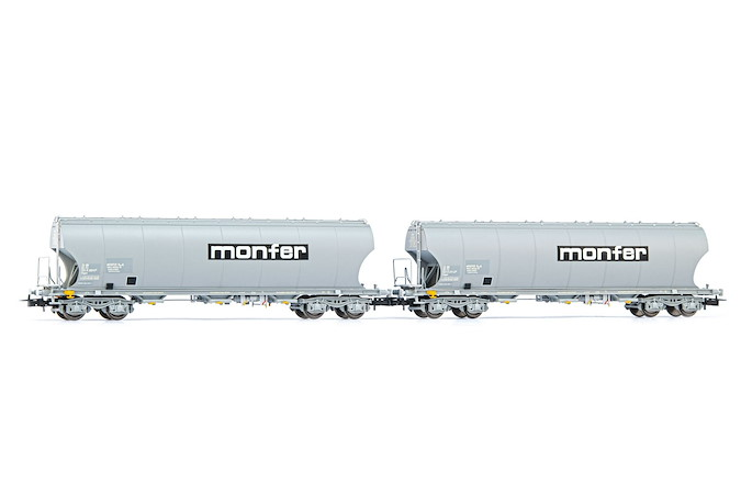 FS, 2-unit set 4-axle silo wagon Aus Savona Silos