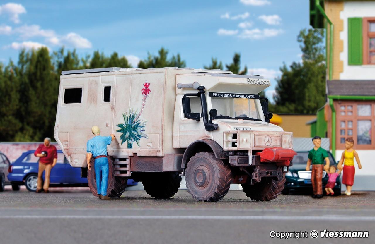H0 Bausatz Kibri 14977 UNIMOG Wohnmobil UNICAT
